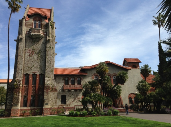 The Beautiful SJSU campus. BTW the water has been spectacular the whole time we've been here.