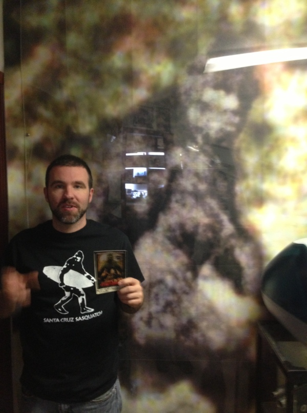 A shot in front of the famous bigfoot photo from the Patterson film.