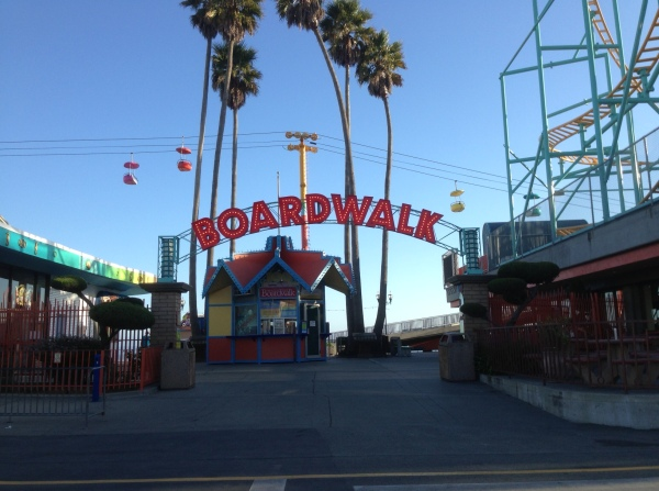 The famous Santa Cruz boardwalk. I kept looking for the Lost Boys...