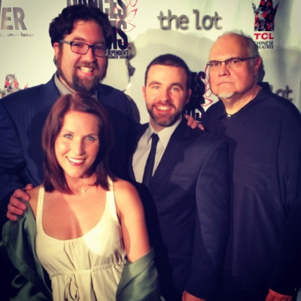 The gang's all here! (L-R Matt Jackson, Marissa Skell, Andy Gunn, Mike McShane)
